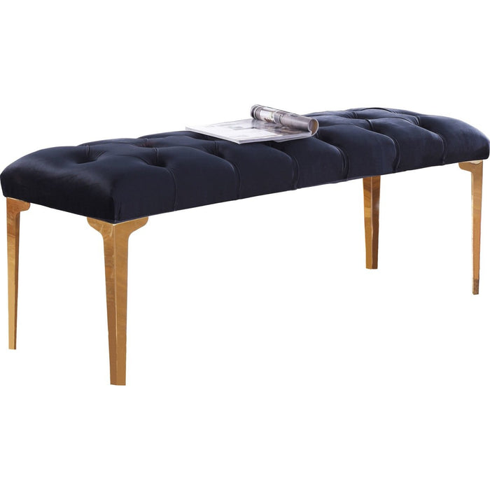 Meridian Furniture Lucy Black Velvet Bench-Minimal & Modern