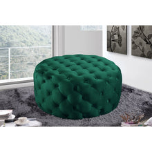 Meridian Furniture Addison Green Velvet Ottoman/Bench-Minimal & Modern