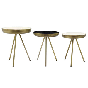Dane Side Table Set of 3 by New Pacific Direct - 1260008