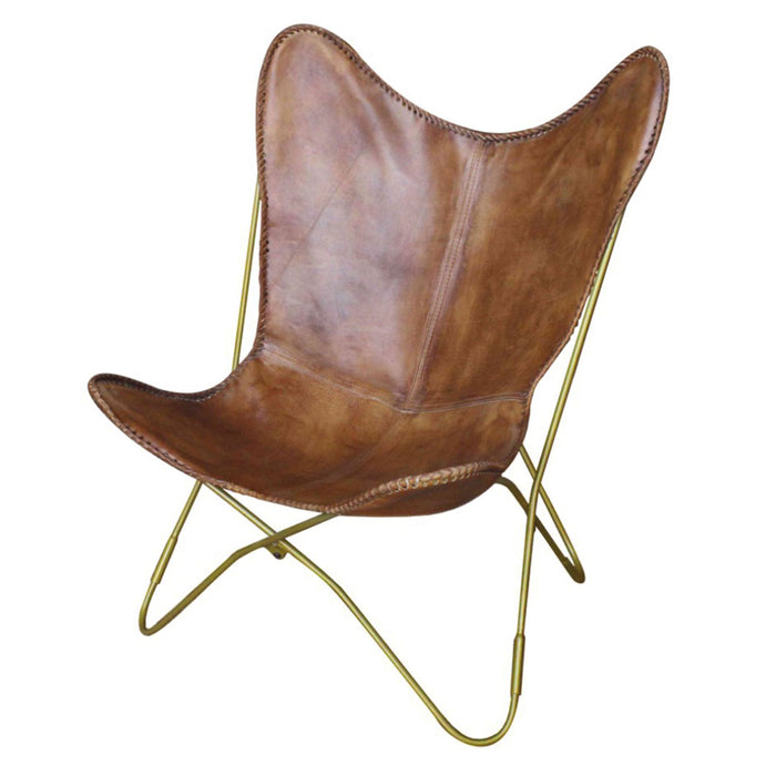 Malcolm Leather Accent Chair by New Pacific Direct - 1280009