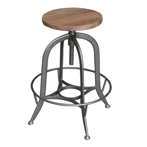 Bale Industrial Backless Vintage Stool by New Pacific Direct - 1280014