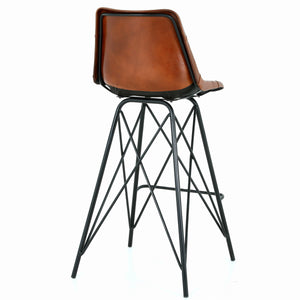 Garren Leather Bar Stool by New Pacific Direct - 1290006
