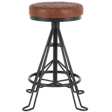 Niel Leather Backless Counter Stool by New Pacific Direct - 1290008
