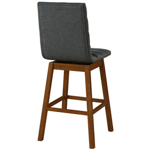 Cliford Fabric Swivel Bar Stool - Set of 2 by New Pacific Direct - 1310003-384