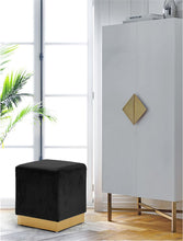 Meridian Furniture Jax Black Velvet Ottoman/Stool