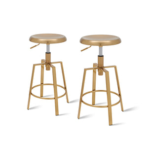 Flint Metal Swivel Backless Stool - Set of 2 by New Pacific Direct - 1350001-G