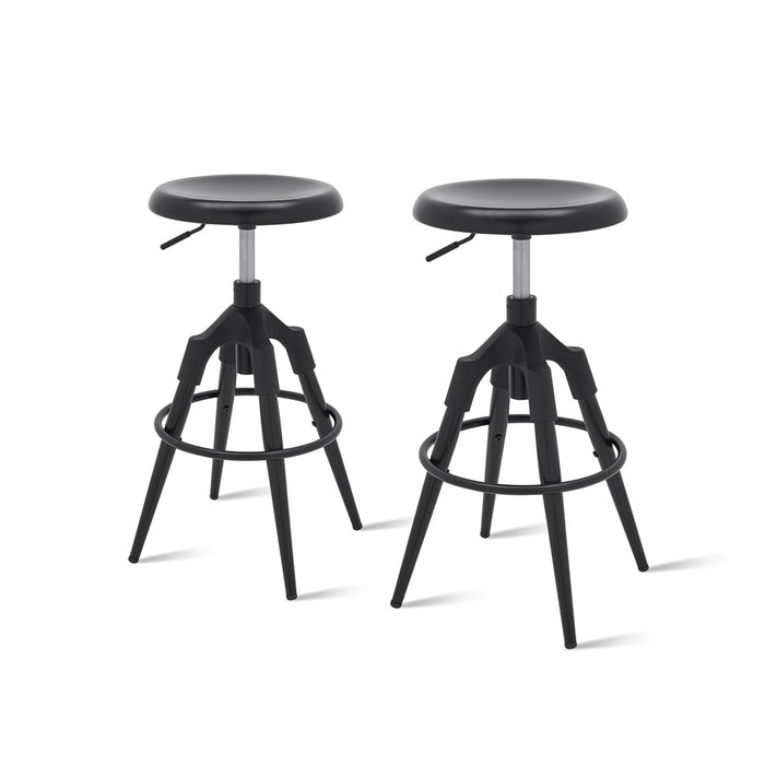 Elton Metal Swivel Backless Stool - Set of 2 by New Pacific Direct - 1350002-B
