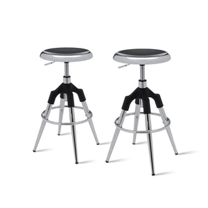 Elton Metal Swivel Backless Stool - Set of 2 by New Pacific Direct - 1350002-CH