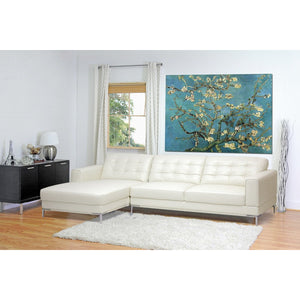 Baxton Studio Babbitt Ivory Leather Modern Sectional Sofa Baxton Studio-sectionals-Minimal And Modern - 4