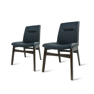 Archie PU Leather Chair Walnut Legs - Set of 2 by New Pacific Direct - 1380001-403