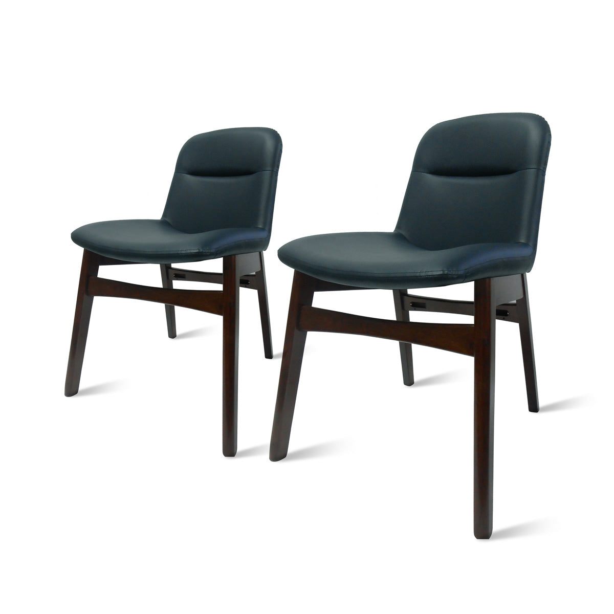 Dennis PU Leather Chair - Set of 2 by New Pacific Direct - 1380003-403