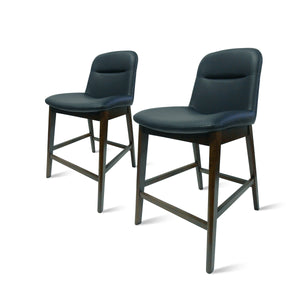 Dennis PU Leather Counter Stool - Set of 2 by New Pacific Direct - 1380004-403