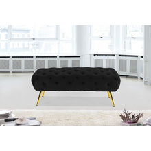 Meridian Furniture Amara Black Velvet Bench-Minimal & Modern