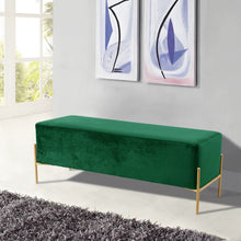Meridian Furniture Isla Green Velvet Bench