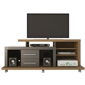 Manhattan Comfort Empire 6 Shelf 2 Drawer Tv Stand Minimal Modern