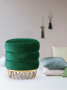 Meridian Furniture Revolve Green Velvet Ottoman/Stool