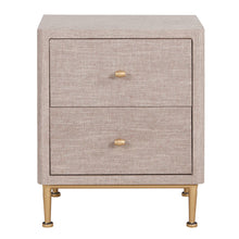 Ricci Raffia 2-Drawer Pattern End Table by New Pacific Direct - 1500024