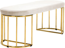 Meridian Furniture Gio Cream Velvet Bench