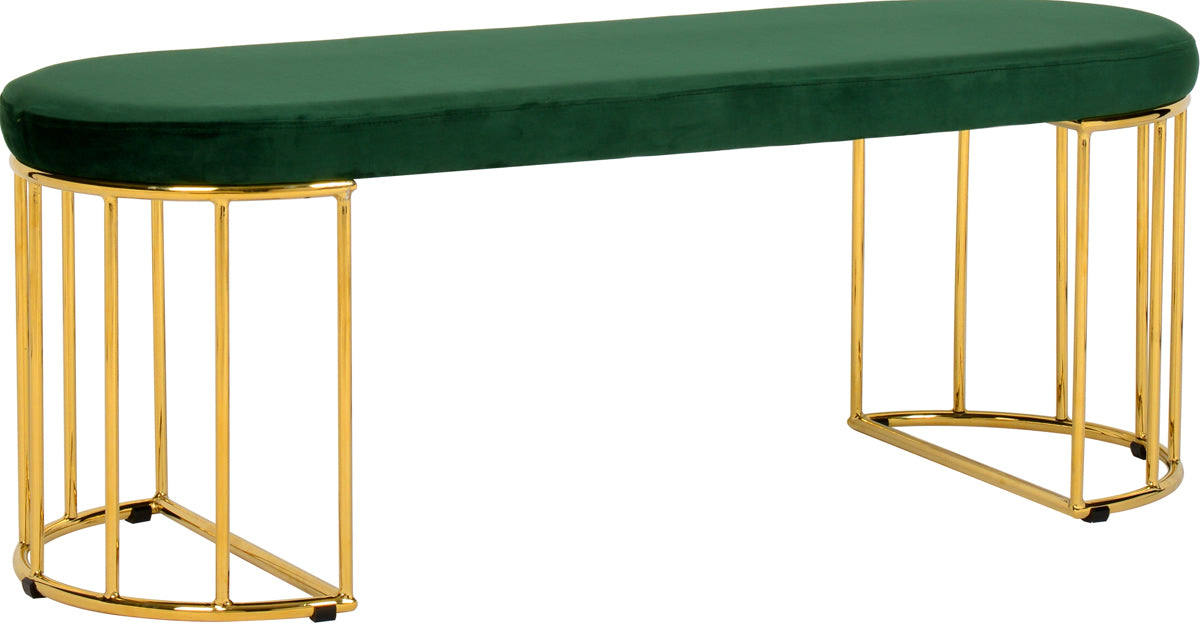 Meridian Furniture Gio Green Velvet BenchMeridian Furniture - Bench - Minimal And Modern - 1