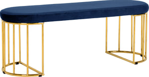 Meridian Furniture Gio Navy Velvet BenchMeridian Furniture - Bench - Minimal And Modern - 1