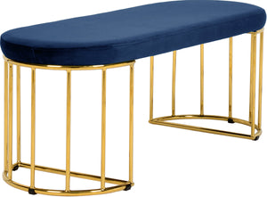 Meridian Furniture Gio Navy Velvet Bench