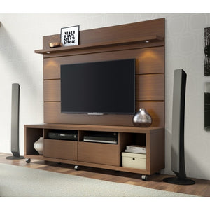 Manhattan Comfort Cabrini 1.8 TV Stand and Panel Nut-Brown, TV Stands - Manhattan Comfort, Minimal & Modern - 2