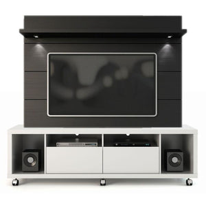 Manhattan Comfort Cabrini 1.8 TV Stand and Panel White Gloss + Black, TV Stands - Manhattan Comfort, Minimal & Modern - 1