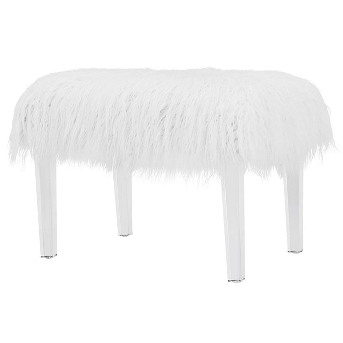 Scarlett Faux Fur Acrylic Stool by New Pacific Direct - 1600002