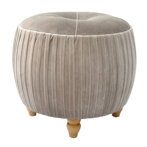 Helena Velvet Small Round Ottoman by New Pacific Direct - 1600008