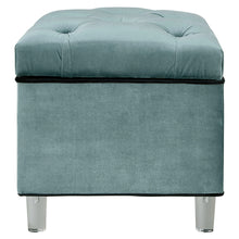 Pandora Velvet Tufted Acrylic Storage Ottoman by New Pacific Direct - 1600012
