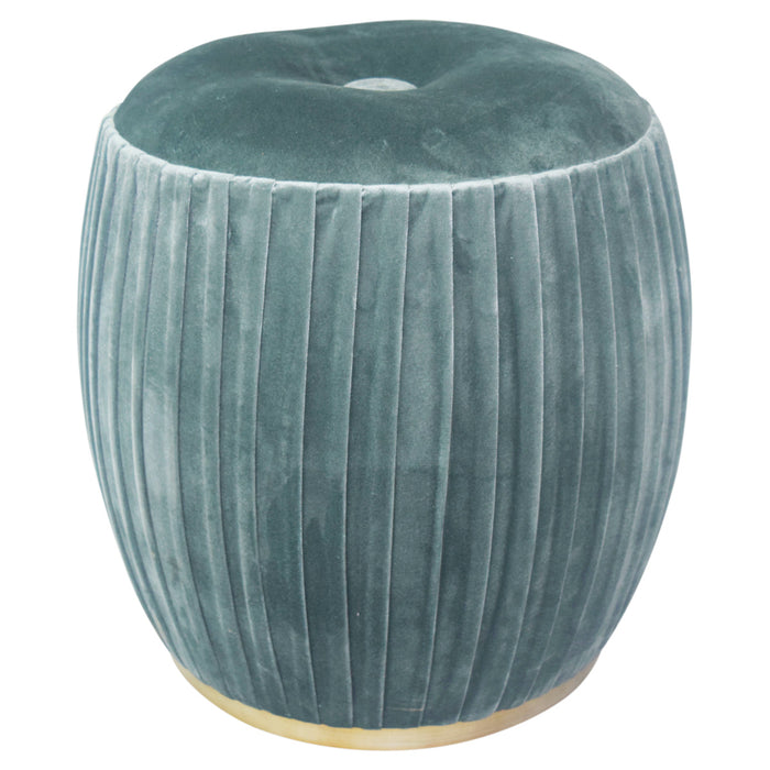 Bianca Velvet Tufted Round Ottoman by New Pacific Direct - 1600019