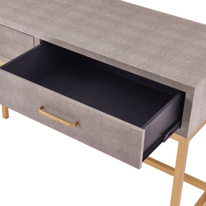 Durham Faux Shagreen 2-Drawer Console Table by New Pacific Direct - 1600034