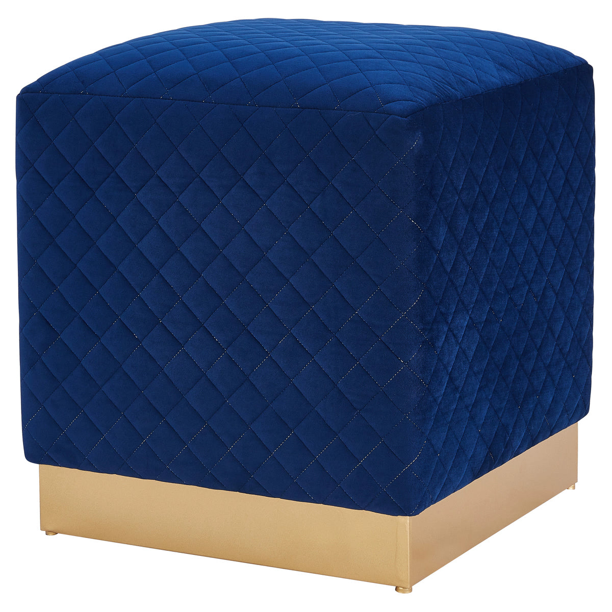 Dante Velvet Fabric Square Ottoman by New Pacific Direct - 1600040