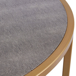 Anza Faux Shagreen Nesting Coffee Table Set of 2 by New Pacific Direct - 1600043