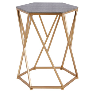 Cressa Faux Shagreen End Table by New Pacific Direct - 1600045