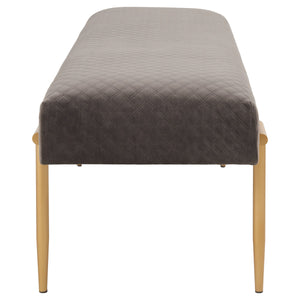 Clarine Quilted Velvet Bench by New Pacific Direct - 1600061-313