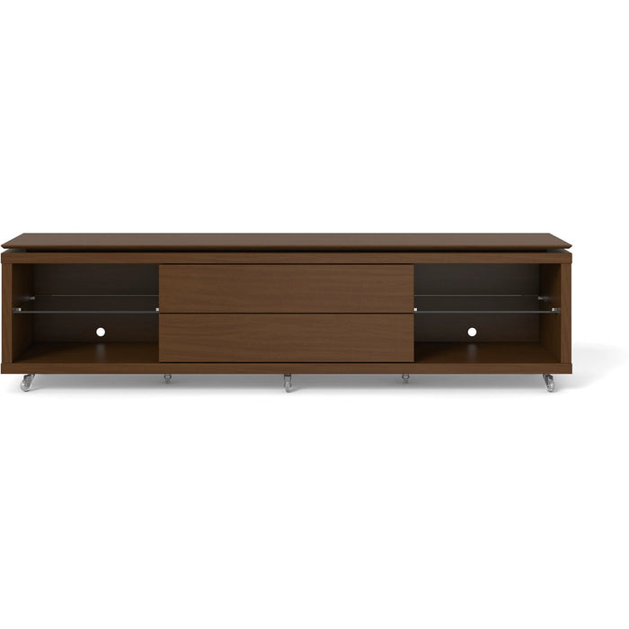 Manhattan Comfort Lincoln TV Stand 2.2 with Silicone Casters in Nut Brown,  - Manhattan Comfort - 1