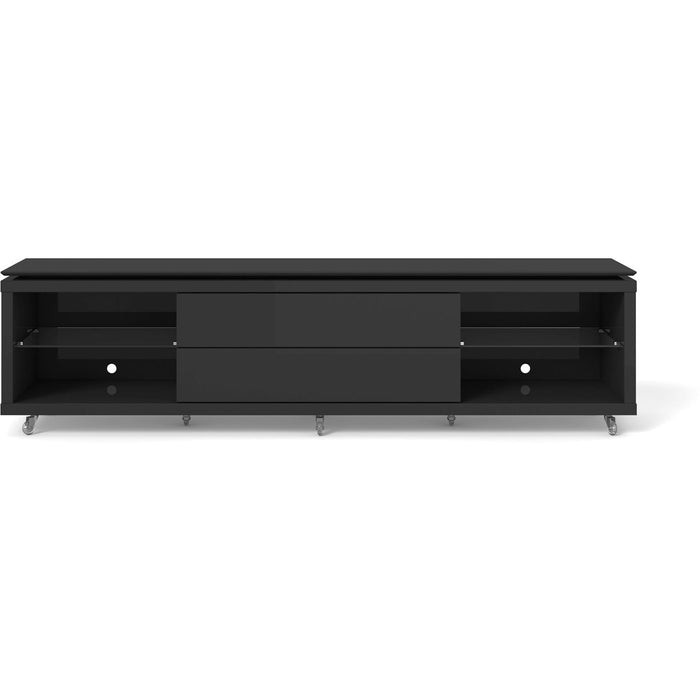 Manhattan Comfort Lincoln TV Stand 2.2 with Silicone Casters in Black Gloss and Black Matte,  - Manhattan Comfort - 1