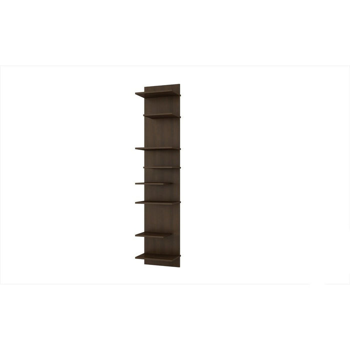 Accentuations by Manhattan Comfort Captivating Nelson Floating Shelf Panel with 8 Shelves in TobaccoManhattan Comfort-Wall Units- - 1
