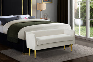 Meridian Furniture Audrey Cream Velvet Bench