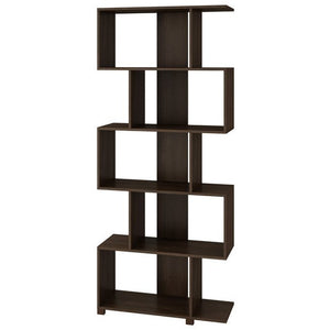 Accentuations by Manhattan Comfort Charming Petrolina Z- Shelf with 5 shelves in TobaccoManhattan Comfort-Bookcases - - 1
