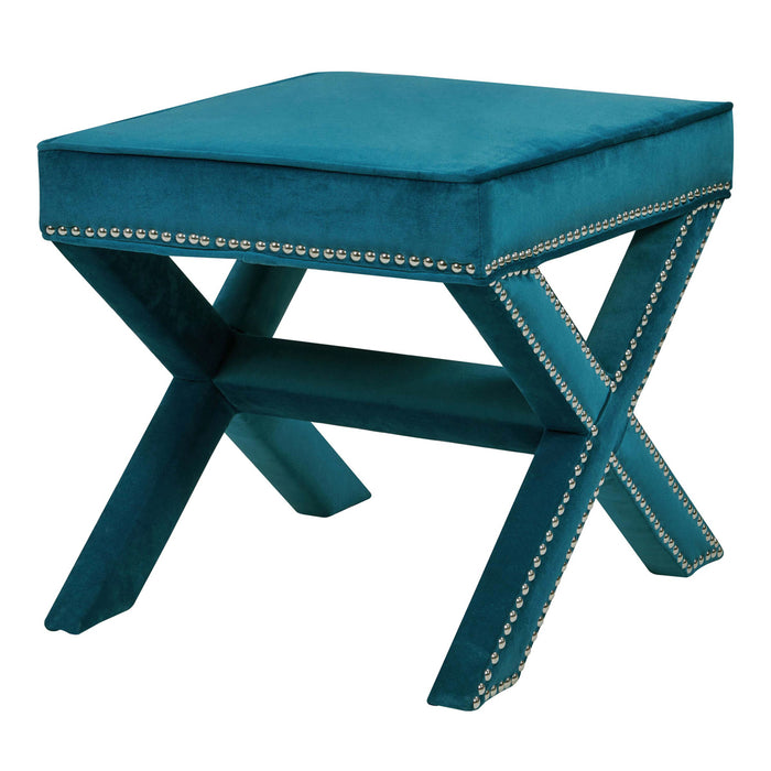 Marguerite Nailhead Stool by New Pacific Direct - 1900037