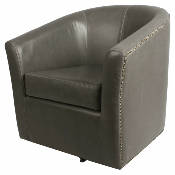 Ernest Bonded Leather Swivel Chair by New Pacific Direct - 1900046
