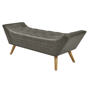 Castlebar Bonded Leather Tufted Bench by New Pacific Direct - 1900098