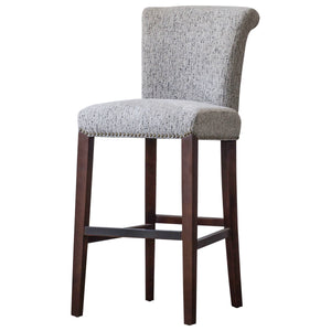 Bentley Fabric Nailhead Bar Stool by New Pacific Direct - 1900105