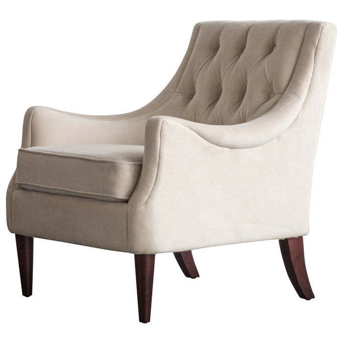 Marlene Velvet Fabric Tufted Accent Chair by New Pacific Direct - 1900121