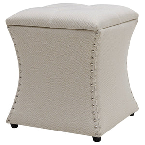 Amelia Nailhead Tufted Storage Ottoman by New Pacific Direct - 1900133