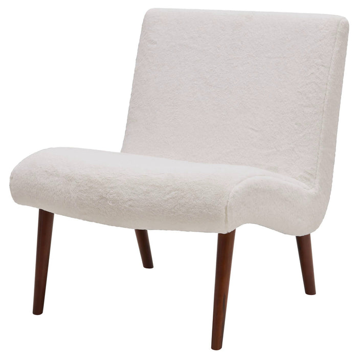 Alexis Faux Fur Fabric Chair by New Pacific Direct - 1900134