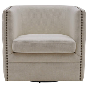 Leslie Fabric Swivel Tufted Chair by New Pacific Direct - 1900148
