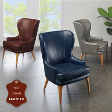 Bjorn Top Grain Leather Accent Chair by New Pacific Direct - 1900155